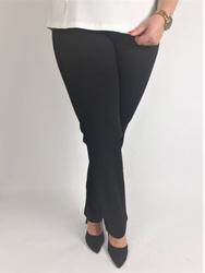Ciepłe, czarne spodnie Miya PLUS SIZE na gumce, prosta nogawka