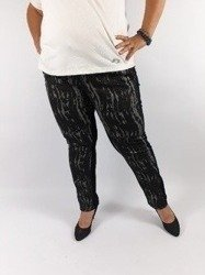 Czarno-szare spodnie ze wzorem