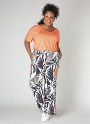 Zwiewne, proste kolorowe spodnie PLUS SIZE