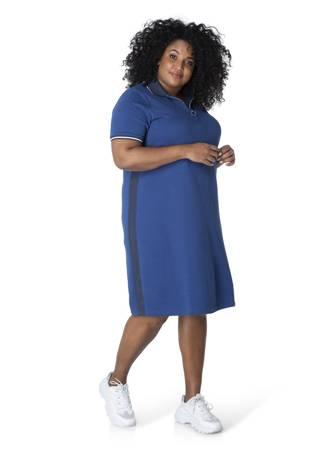 Sportowa sukienka polo granatowa Plus Size